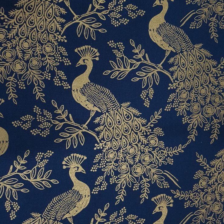 Telas para tapizar con Estampado de Pavos Reales