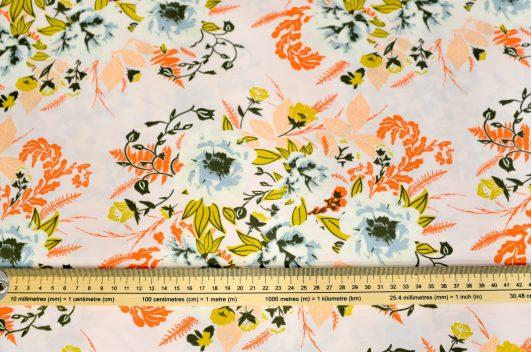 Tela de Flores Color Salmón|||||||||||||