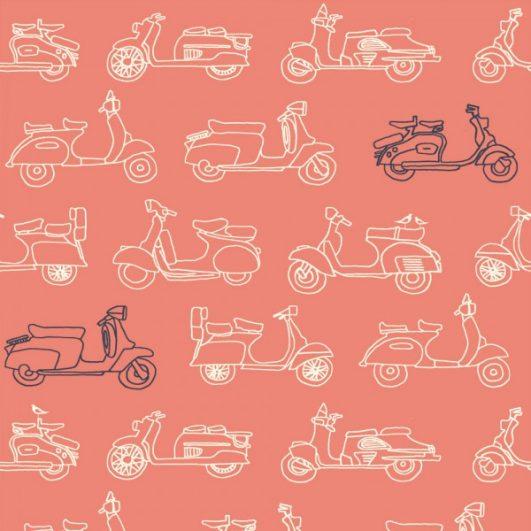 Tela de motos Vespa rosa