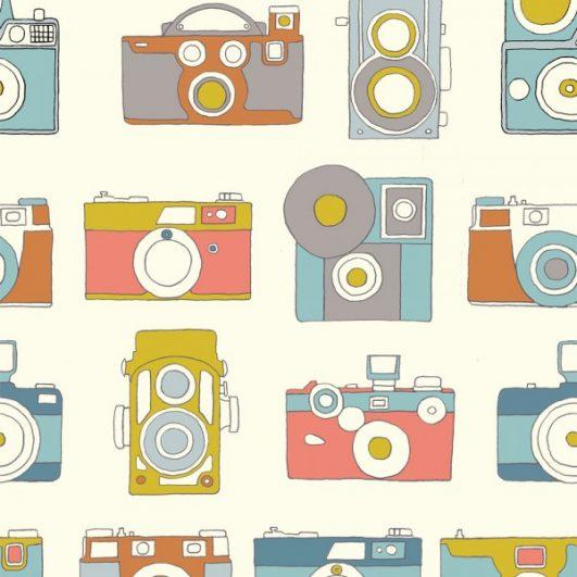 Tela de cámaras de fotos|||