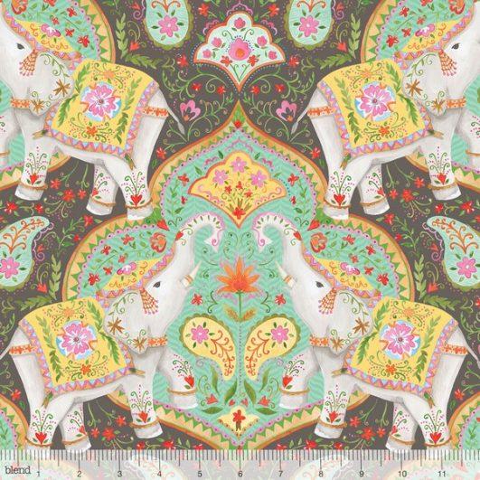 |Tela de Estampado Hindú|Tela de Elefantes de Estampado Hindú||Tela de Estampado Hindú|Tela de Elefantes de Estampado Hindú
