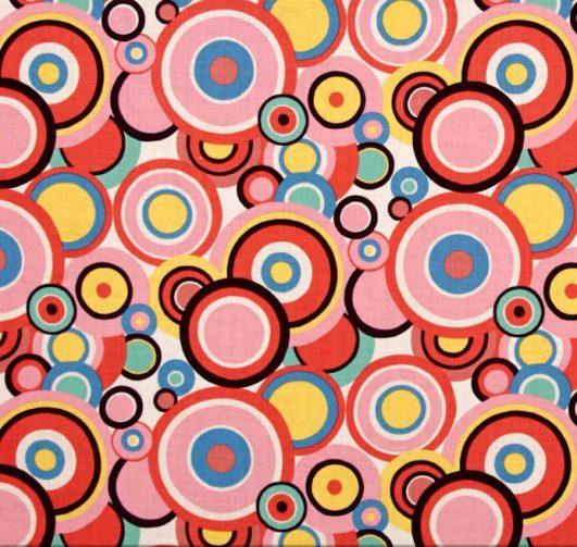 """""""Ranchera Dot"""" de Alexander Henry Fabrics en rosa"""