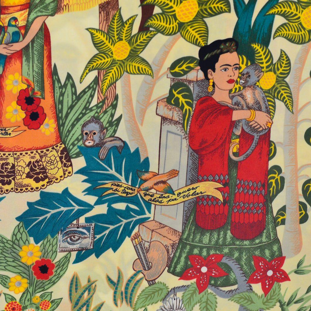 Telas de Frida. Estampado de Frida Kahlo