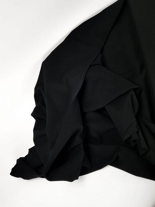 Punto de sudadera, jersey orgánico negro