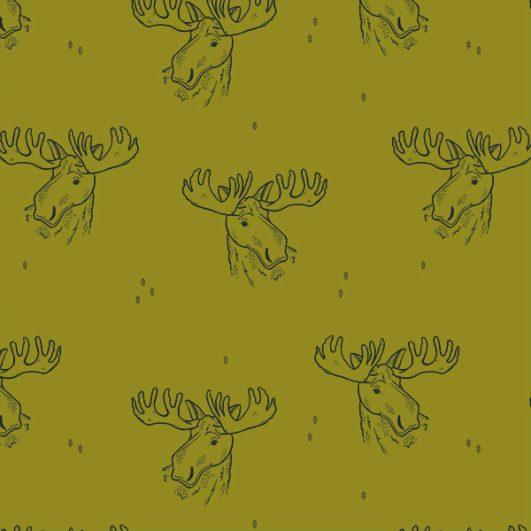 tela de punto de camiseta estampada con renos