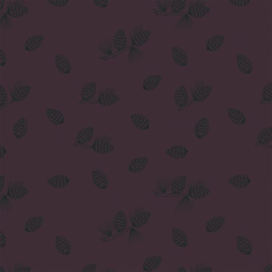 punto sudadera con piñas de pinar estampadas
