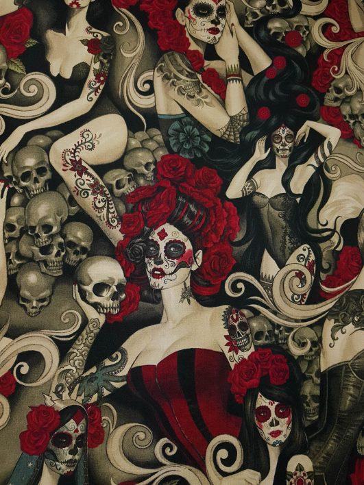 """Tela """"Las Elegantes"""" de Alexander Henry en oscuro"""