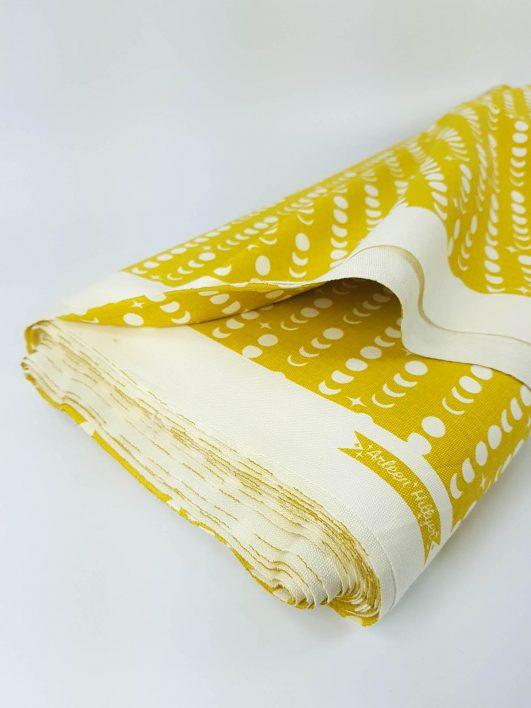 Rollo de loneta, tela para tapizar color mostaza