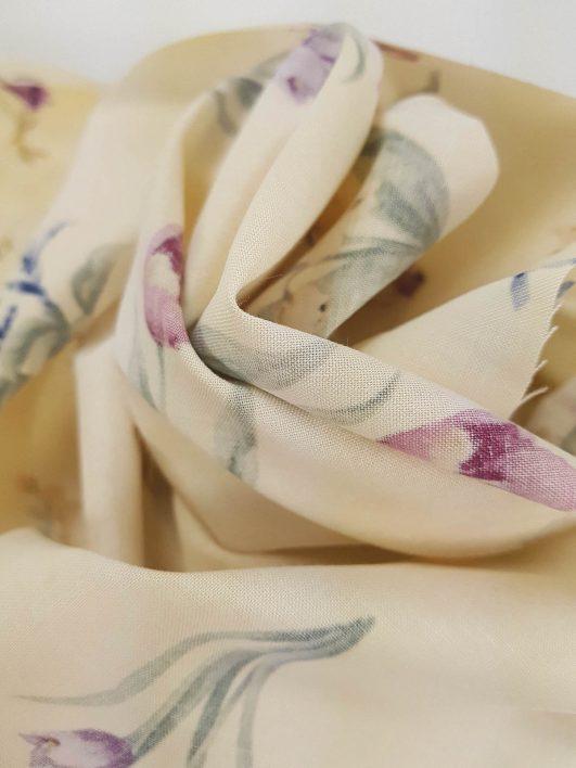 Estampado de flores clásico 100% algodón
