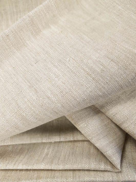 tela de lino 100% en tono crema natural