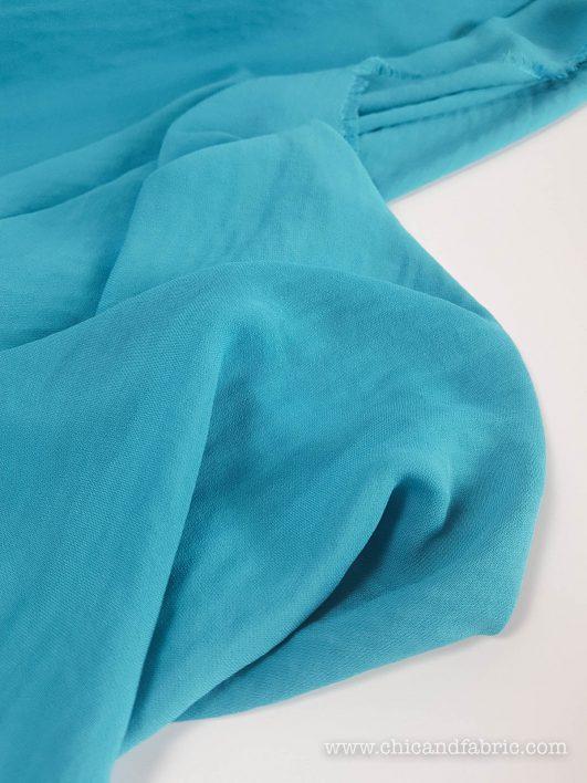 Viscosa lisa azul turquesa
