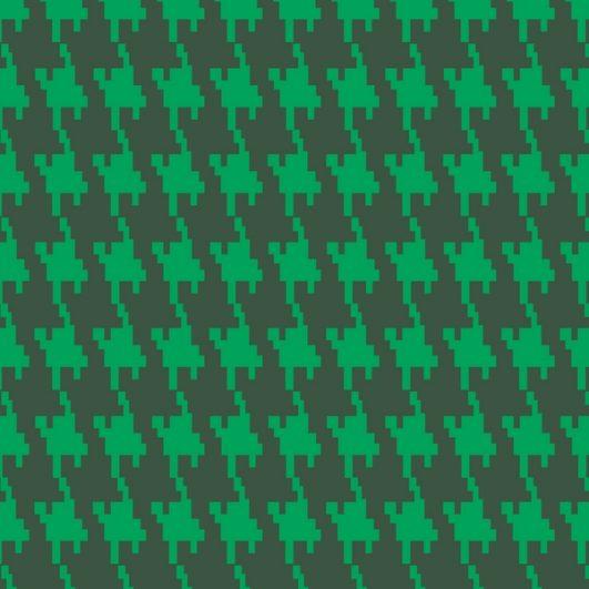 jacquard verde estampado de pata de gallo para confección de abrigos o tapizado de sillones