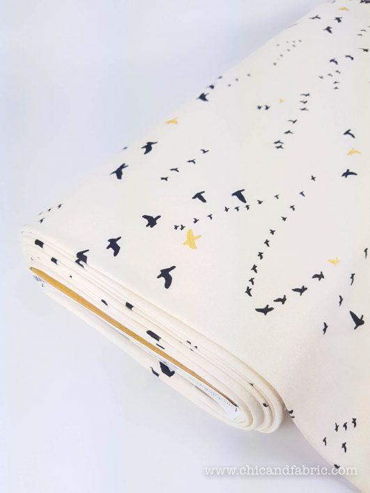 T-shirt écologique en maille à motif d'oiseaux Birch Fabrics