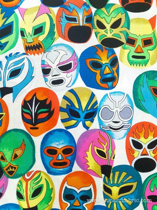 Tela mexicana de máscaras de pelea