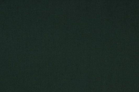 Loneta de lino y algodón color verde oscuro