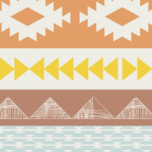 Loneta geométrica de estilo tribal