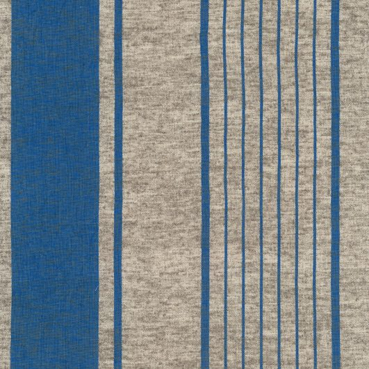 Loneta de estampado de rayas azules de Echino para Kokka