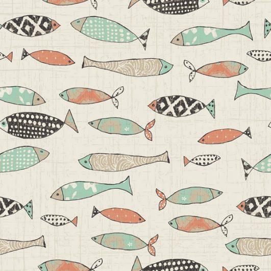 Flanelle pour enfants avec poisson naïf