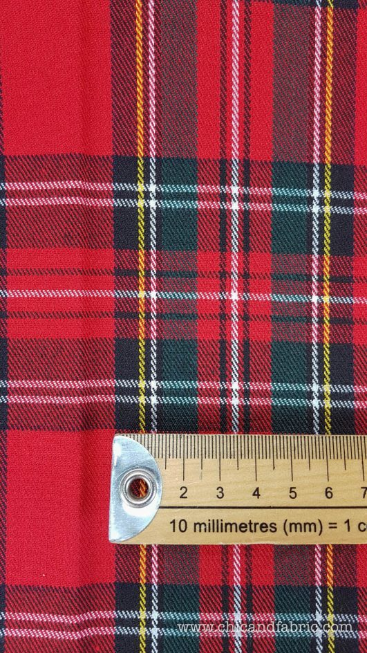 tela de cuadros escoceses para confeccionar faldas o camisas