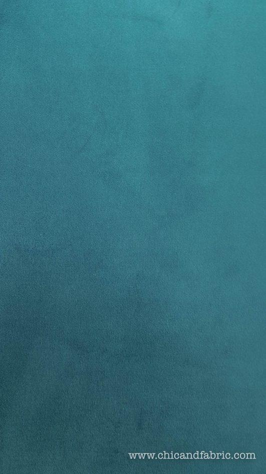 terciopelo azul pato para moda y decoración