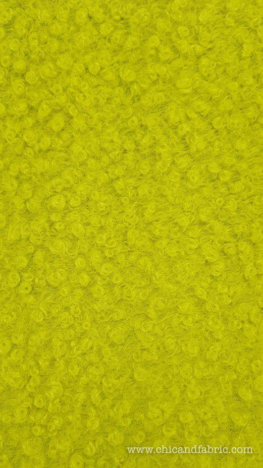 Tissu de laine Curl Green Lime
