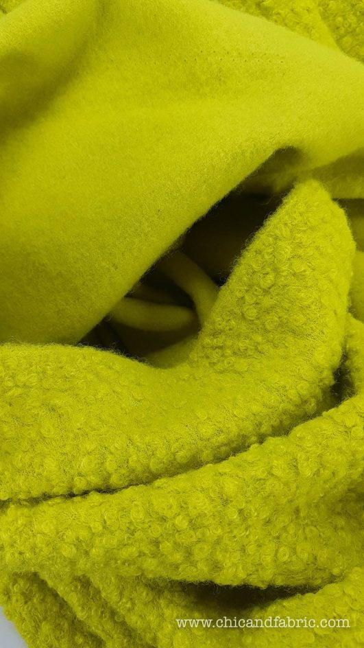 Laine Curl Green Lime - Jaune Fluor