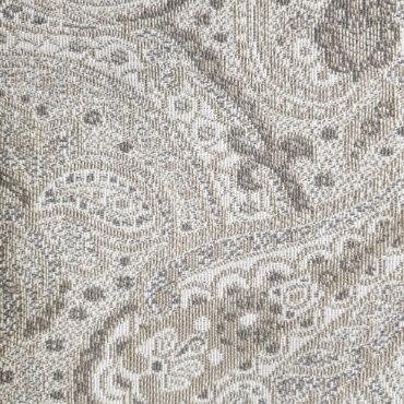 Jacquard para tapizar extra grueso estampado de cachemira en gris y marrón