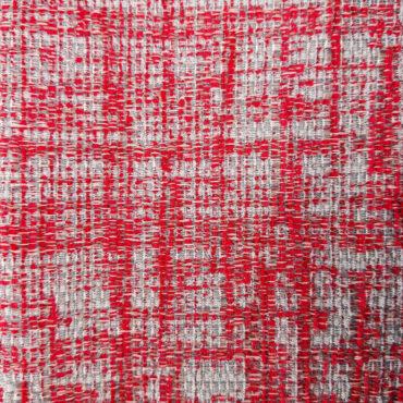 Jacquard para tapizar jaspeado en rojo granate