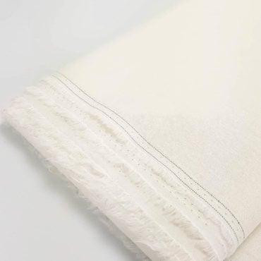 Loneta de lino y algodón color crema
