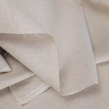 Loneta de lino y algodón color tostado