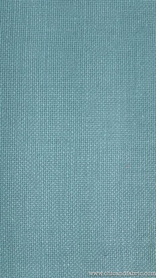 tessuto di lino blu anatra per divani imbottiti