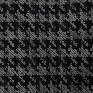 Imprimé pied de poule gris et noir. Tissu d'ameublement robuste et teint Jacquard