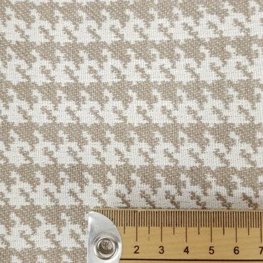 Estampado pata de gallo para tapicería color oro. Jacquard resistente y antimanchas