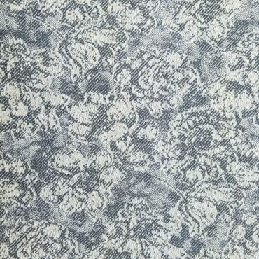 Jacquard tinta unita con stampa floreale vintage