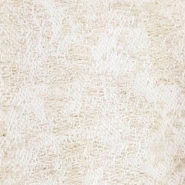 Jacquard tinta unita con stampa floreale vintage in bianco e oro