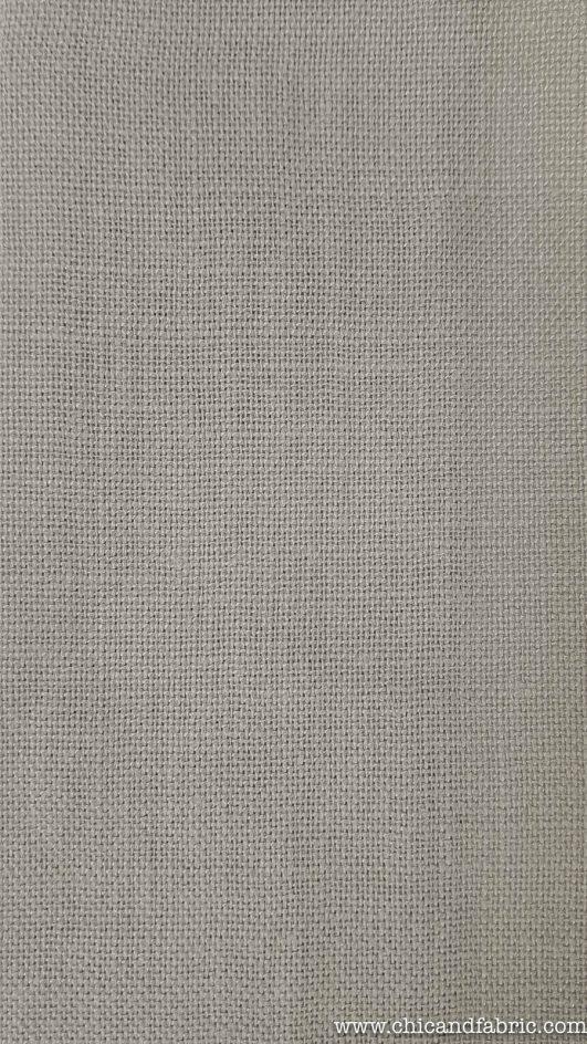 Lino 100% para cortinas y visillos en color siena apagado