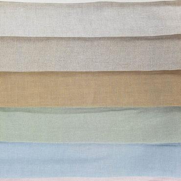 Tenda trasparente in lino 100% fine 2,80m traslucido nei colori naturali