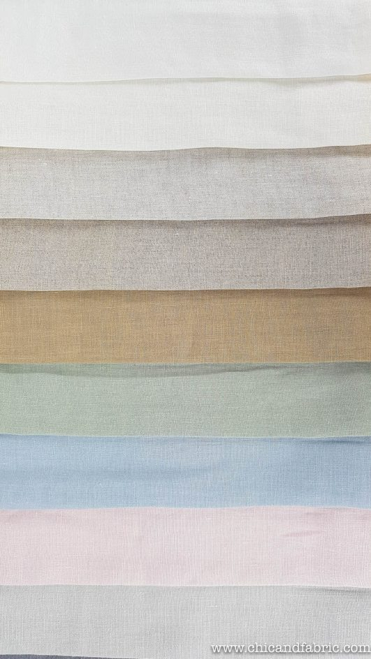 Visillo de lino 100% fino de 2,80m translúcido en colores naturales