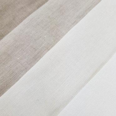 Tende trasparenti in lino 100% fine di 2,80m traslucido