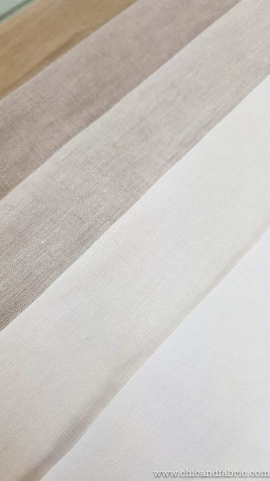 Visillos de lino 100% fino de 2,80m translúcido