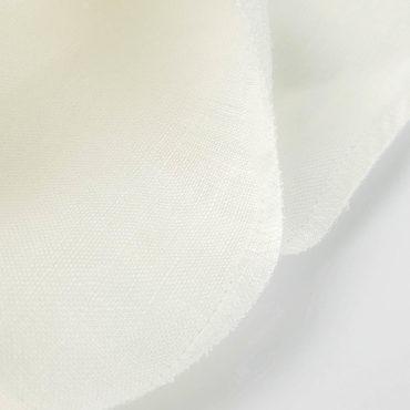 Tenda trasparente 100% in lino fine di 2,80m in bianco rotto traslucido