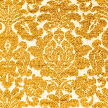 Jacquard extragrueso antimanchas estampado de flores en amarillo cálido