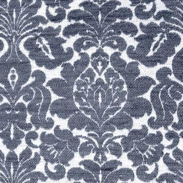 Jacquard extragrueso antimanchas estampado de flores en azul grisáceo
