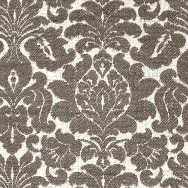 Jacquard tinta unita con stampa floreale marrone
