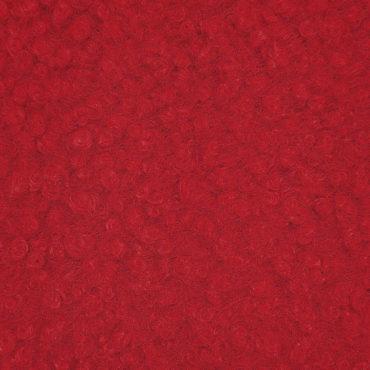 paño rojo de rizo de lana