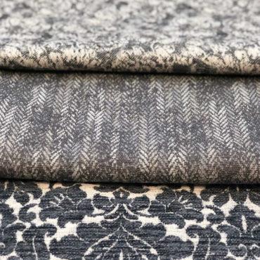 tejidos antimanchas para tapizar de estampado clásico en grises