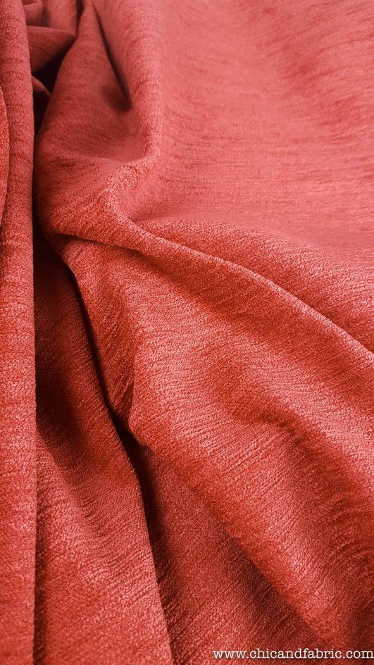 Jacquard extragrueso color cobre para tapicería y decoración