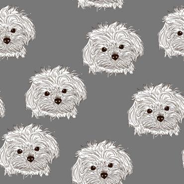 tela de punto de sudadera jersey de algodón orgánico estampada con perretes