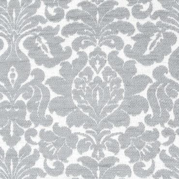 Jacquard extragrueso antimanchas estampado de flores en gris claro