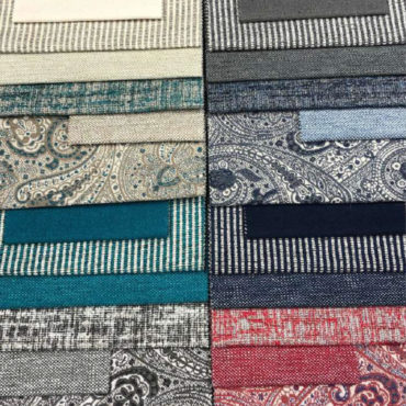 Telas para tapicería estampadas. Tejido italiano de calidad
